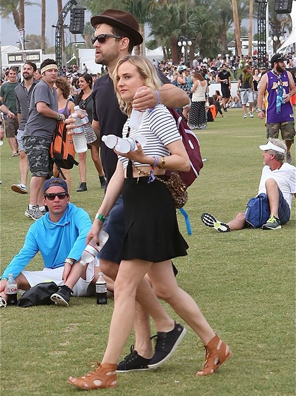 Joshua Jackson and Diane Kruger at the second weekend of the Coachella Music Festival 2014
