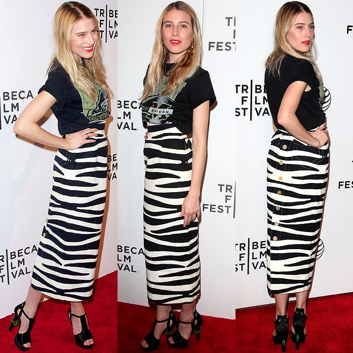 Dree Hemingway at the world premiere of Ryan Piers Williams' feature film, X/Y, during the 2014 Tribeca Film Festival