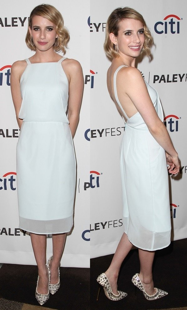 Emma Roberts at the 'American Horror Story: Coven' presentation at PaleyFest 2014 held at the Doby Theatre in Los Angeles on March 28, 2014
