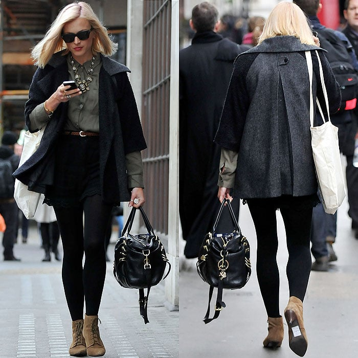 Fearne Cotton leaving the BBC Radio 1 studios in London, England, on January 10, 2012