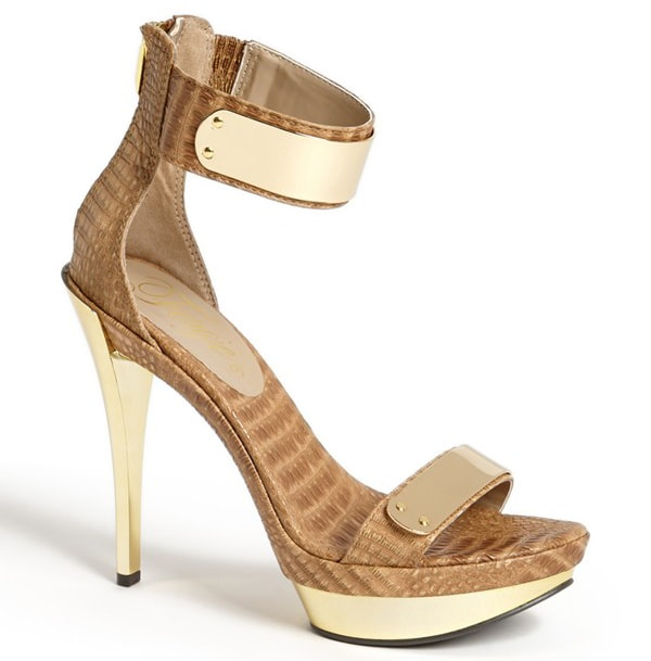"""Fergie """"Cash"""" Sandals in Taupe"""