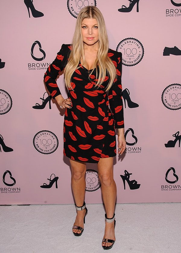 Fergie at Brown Shoe Company's celebration of 100 years