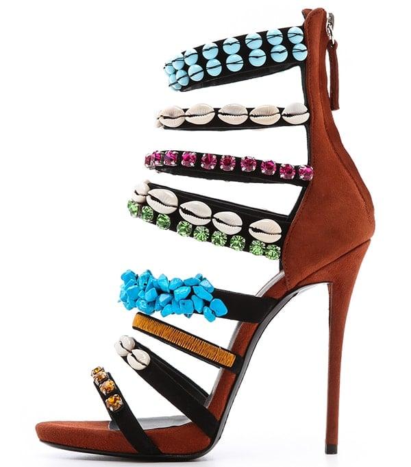Giuseppe Zanotti Coline Strappy Embellished Sandals