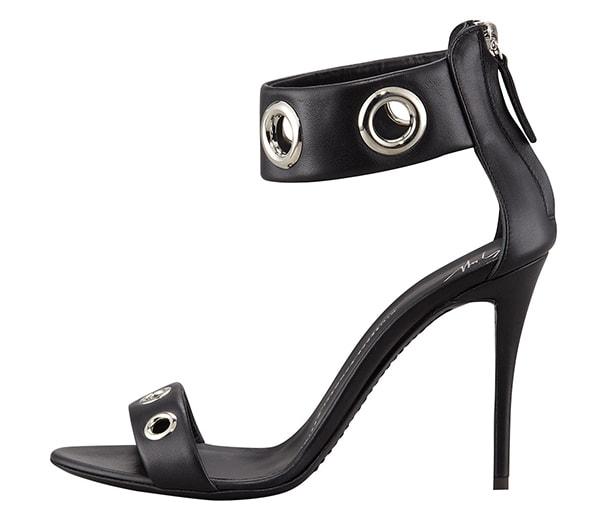 Giuseppe Zanotti Eyelet Ankle-Wrap Leather Sandals1