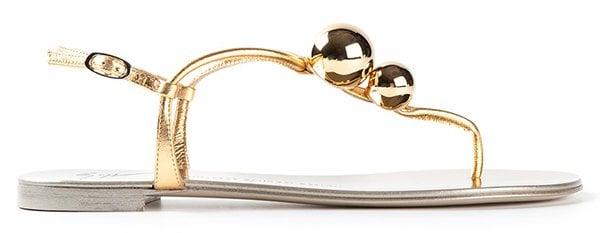 Giuseppe Zanotti Strappy Gold Sandals