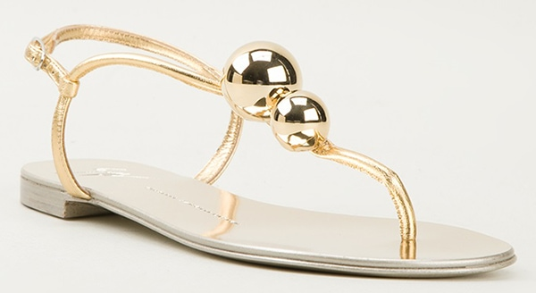 Giuseppe Zanotti Strappy Sandals with Bauble