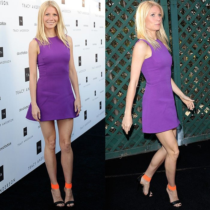 Gwyneth Paltrow at the opening of the Tracy Anderson Flagship Studio in Los Angeles, California, on April 4, 2013