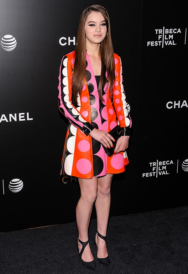 Hailee Steinfeld at the 'Begin Again' premiere during the 2014 Tribeca Film Festival at BMCC Tribeca PAC in New York City on April 26, 2014