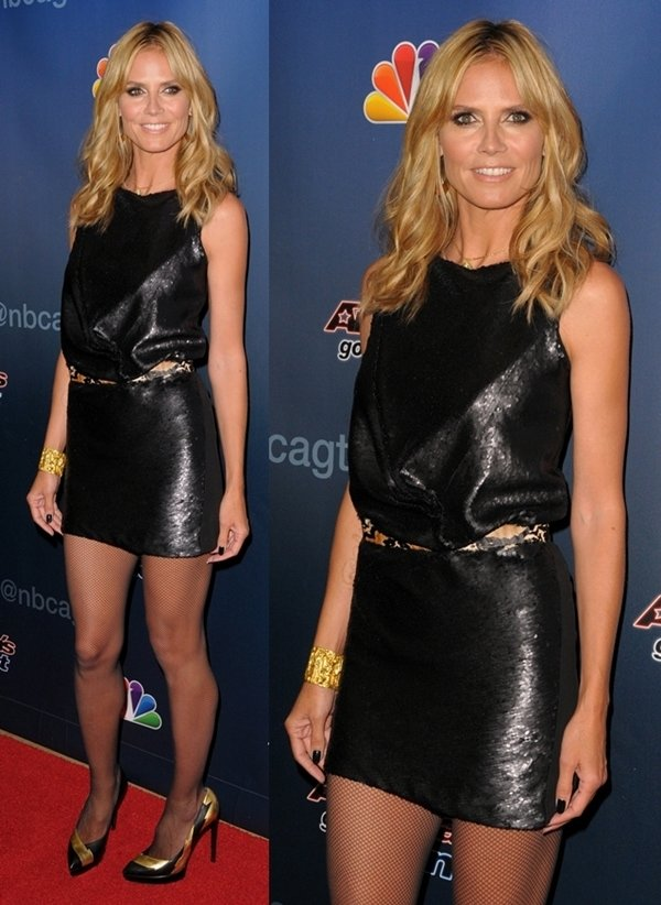 Heidi Klum at the season premiere of 'America's Got Talent' held at Madison Square Garden in New York on April 4, 2014