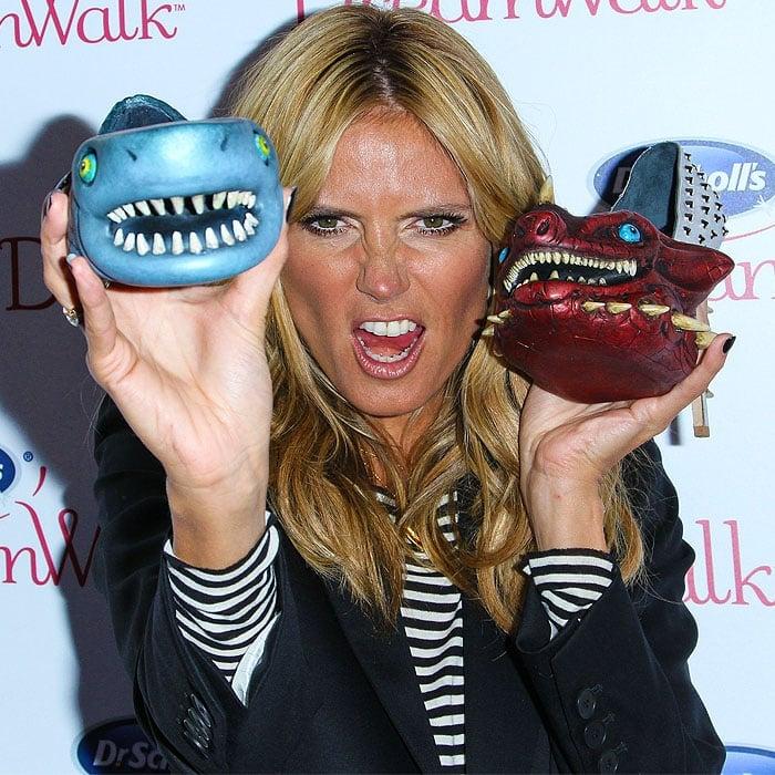 Heidi Klum Dr Scholls shoe meanies 1