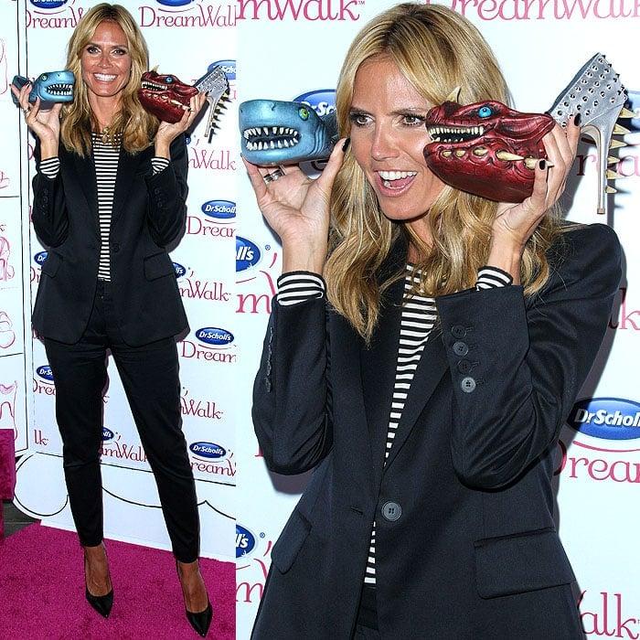 Heidi Klum Dr Scholls shoe meanies 2