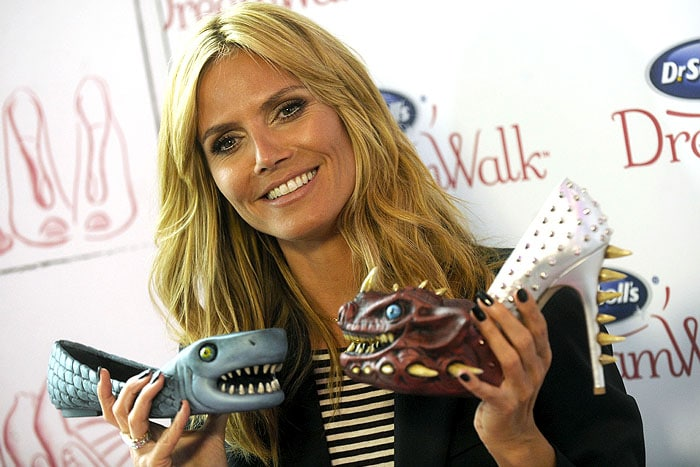 Heidi Klum Dr Scholls shoe meanies