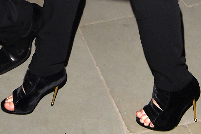 Jennifer Lawrence's Tom Ford fall 2014 velvet ankle boots
