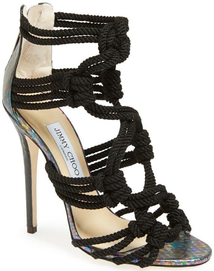 Jimmy Choo 'Kalmar' Braided Rope Sandals