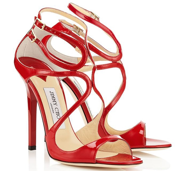 Jimmy Choo Lance Sandals Red