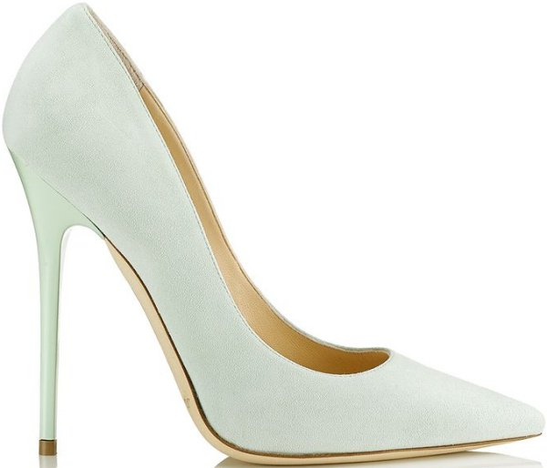 """Jimmy Choo """"Anouk"""" Pumps in Key Lime Suede"""