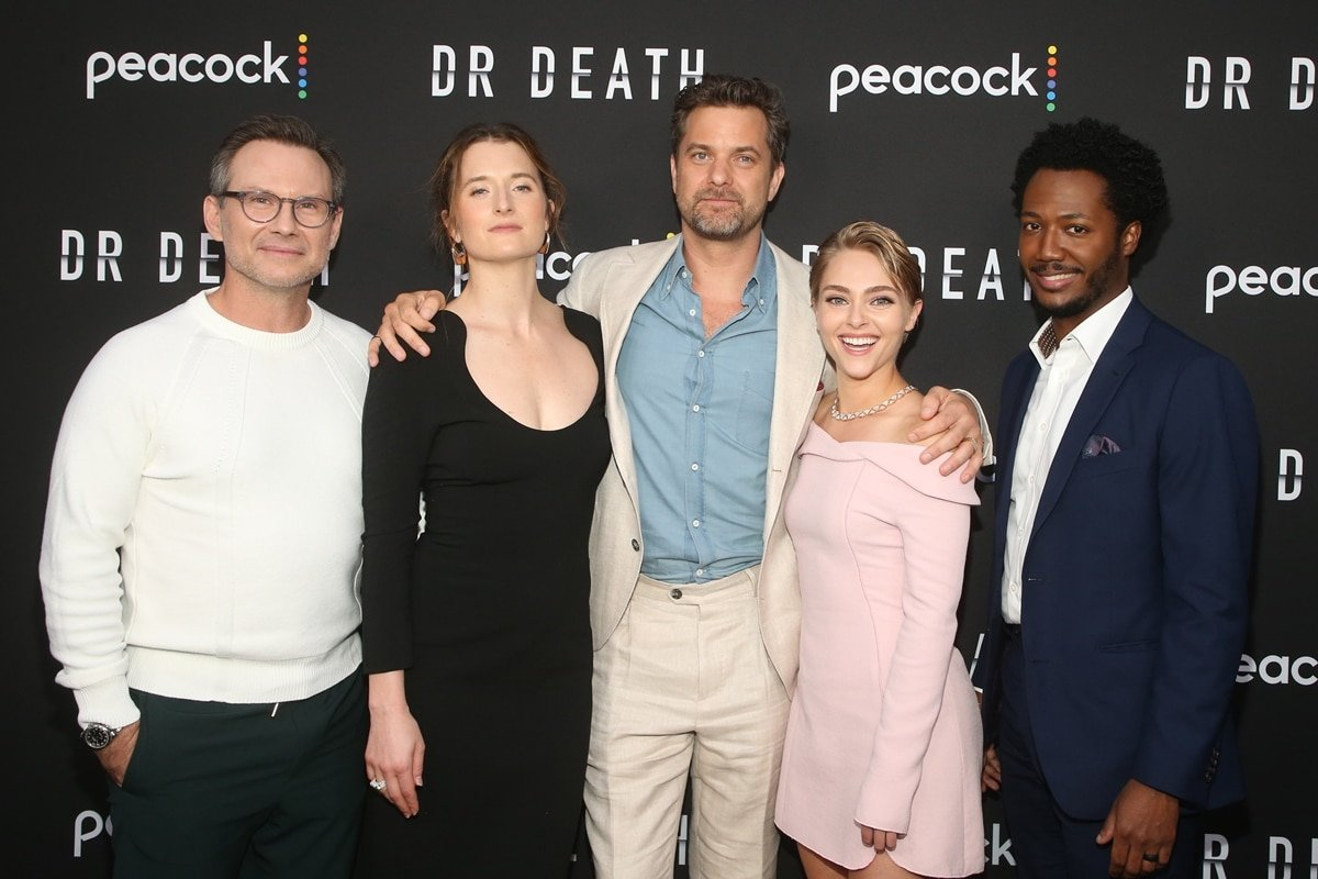 Christian Slater, Grace Gummer, Joshua Jackson, AnnaSophia Robb, and Hubert Point-Du Jour at the Dr. Death exclusive screening event