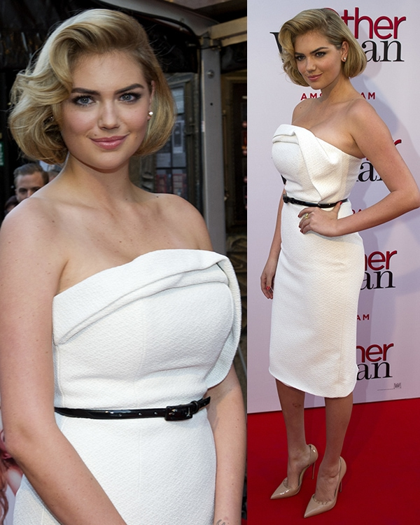 Kate Upton's retro faux bob do hairstyle