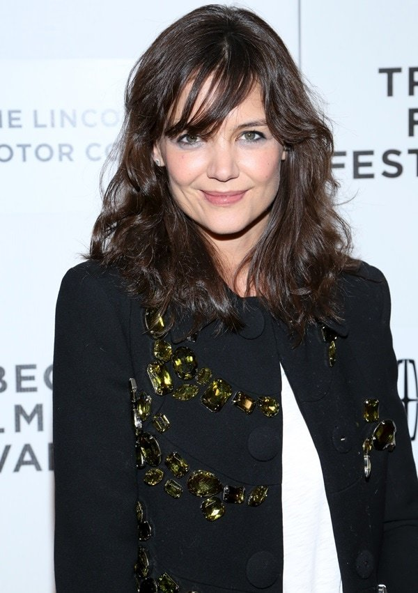 Katie Holmes at the 'Boulevard' premiere during the 2014 Tribeca Film Festival held at BMCC Tribeca PAC in New York City on April 20, 2014