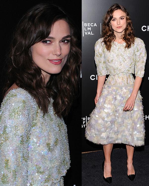 Keira Knightley wearing a Chanel spring 2014 dress