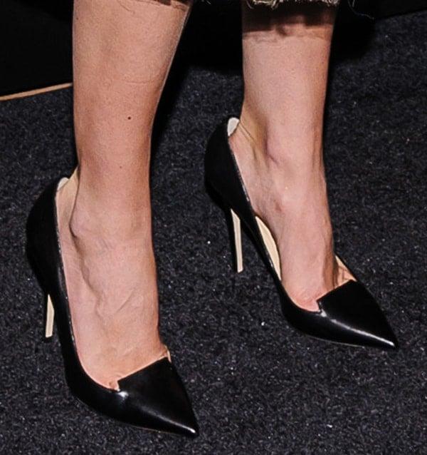 Keira Knightley wearing Jimmy Choo Ari pumps