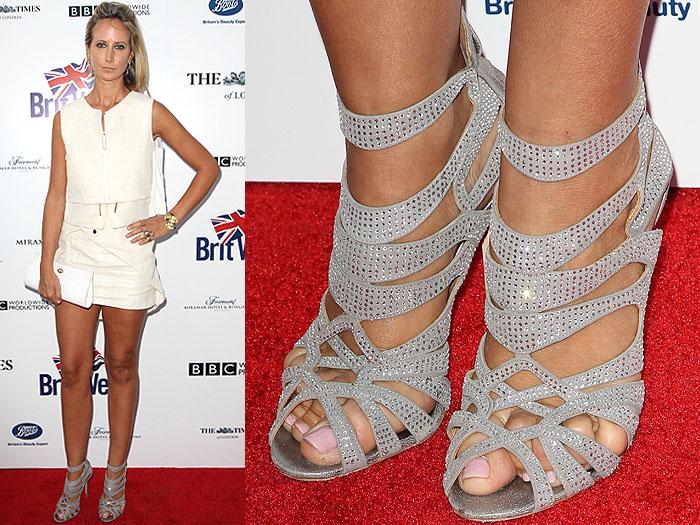 Lady Victoria Hervey's Badgley Mischka Taylar Sandals