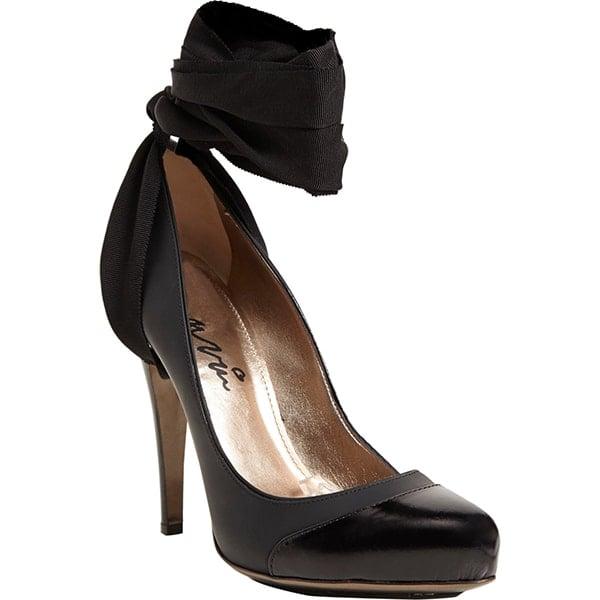 Lanvin Cap-Toe Ankle-Strap Pumps Black