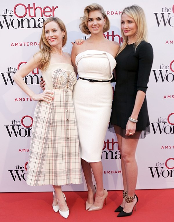 Leslie Mann, Kate Upton, and Cameron Diaz flashed their hot legs on the red carpet