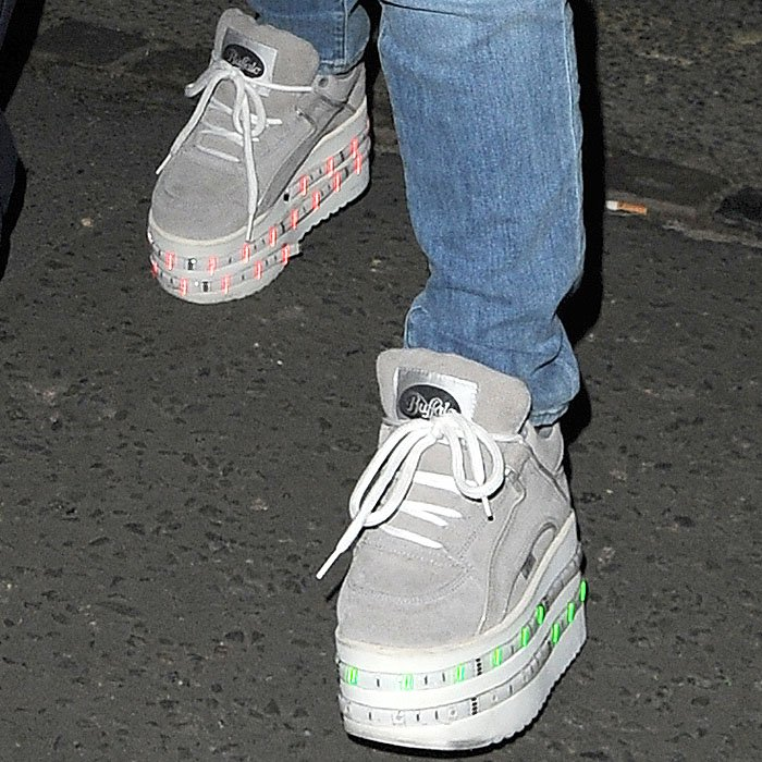 "Lily Allen's Topshop x Ashish ""Buffalo"" platform sneakers"