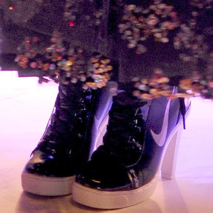 Lily Allen's Nike SB high-heel, high-top sneakers