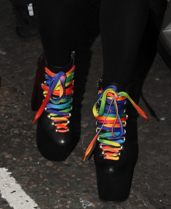 Lily Allen rocksplatform shoes by UNIF