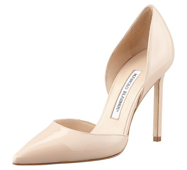 Manolo Blahnik Tayler Patent Pointed d'Orsay pumps