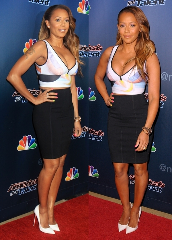 Mel B at the season premiere of 'America's Got Talent' held at Madison Square Garden in New York on April 4, 2014