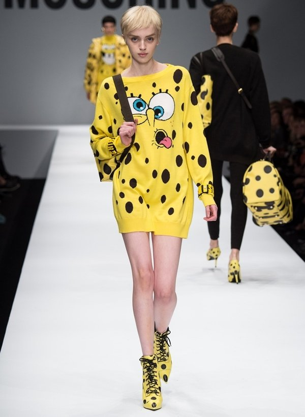 We first saw Rita's dress and shoes at the Moschino Fall/Winter 2014 show during Milan Fashion Week