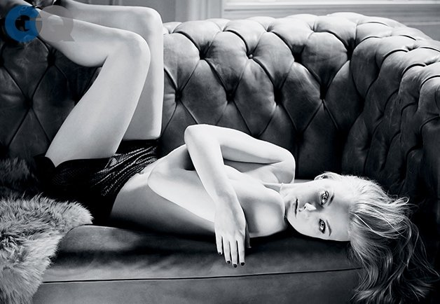 Natalie dormer high heel sandals GQ topless 4