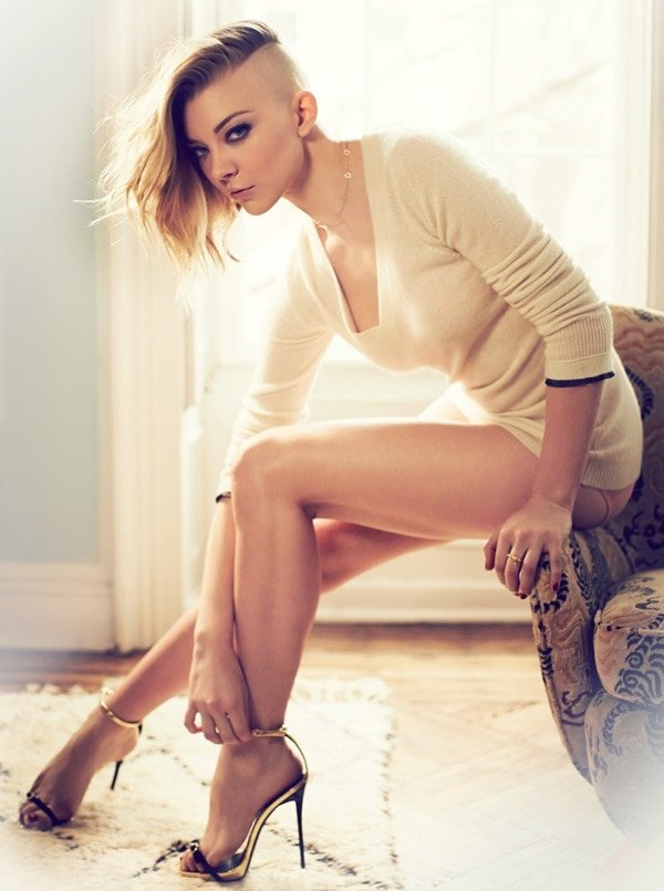 Natalie dormer high heel sandals GQ topless 6