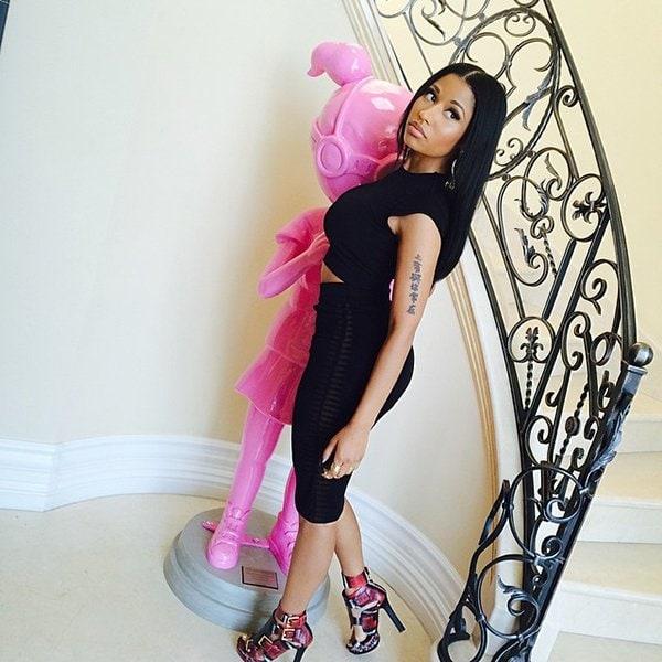 Nicki Minaj Alexander McQueen The Other Woman Press Day