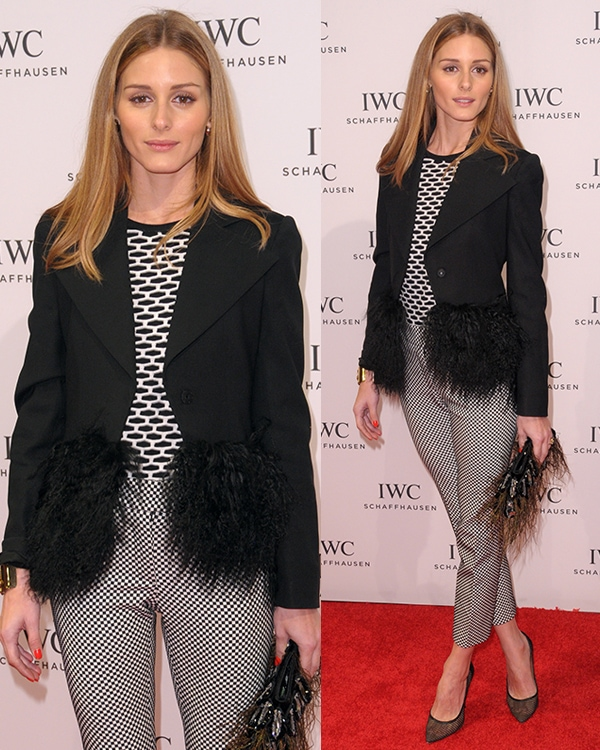 Olivia Palermo's three-piece monochromatic outfit