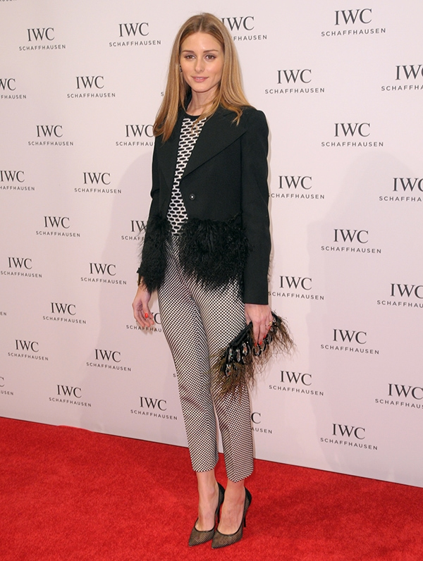"Olivia Palermo at ""For the Love of Cinema"" celebration dinner hosted by IWC Schaffhausen and Tribeca Film Festival at Urban Zen Loft in New York City on April 17, 2014"