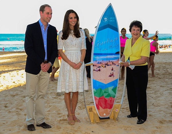 Duke and Duchess of Cambridge Sydney Manly Beach, Australia