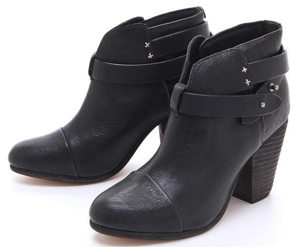 Rag & Bone Brown Harrow Booties Black