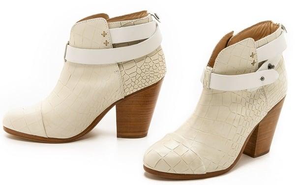 Rag & Bone White Harrow Boots