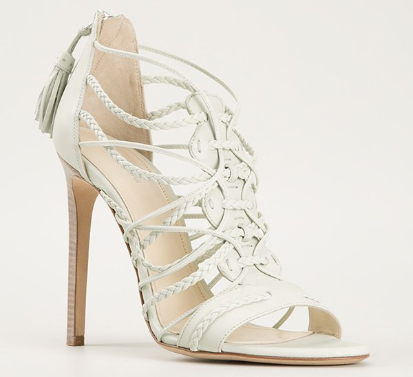 Roberto Cavalli Woven Sandals
