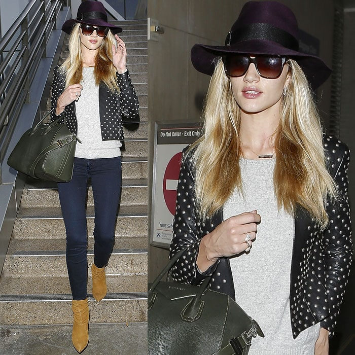 Rosie Huntington-Whiteley slouchy booties