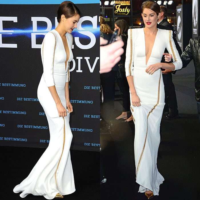 Shailene Woodley at the 'Divergent' premiere held at the Cinestar am Potsdamer Platz in Berlin, Germany, on April 1, 2014