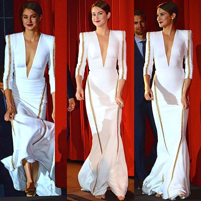 Shailene Woodley barefoot Divergent Berlin premiere