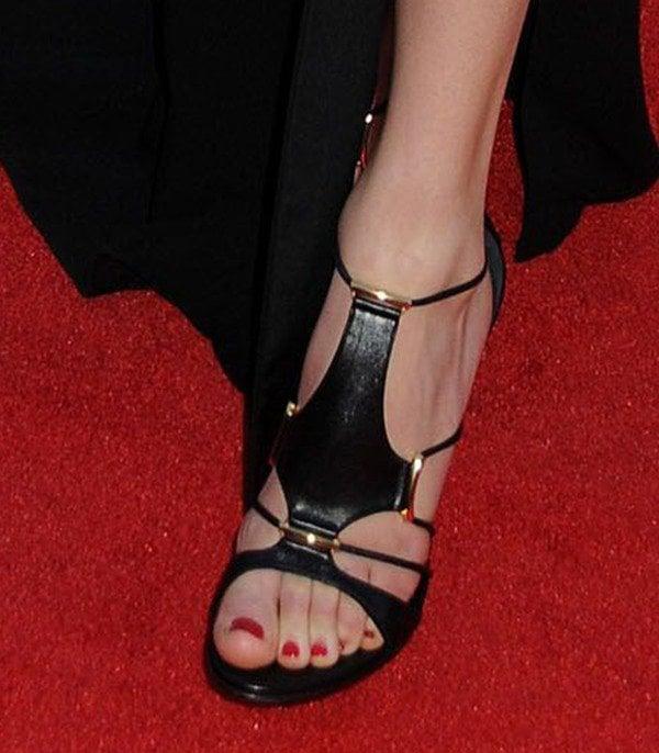 Taylor Swift wearing Casadei Trikini sandals