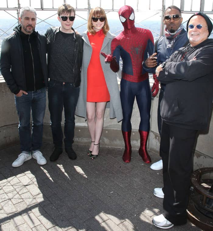 Cast of 'The Amazing Spider-Man 2' light the ESB
