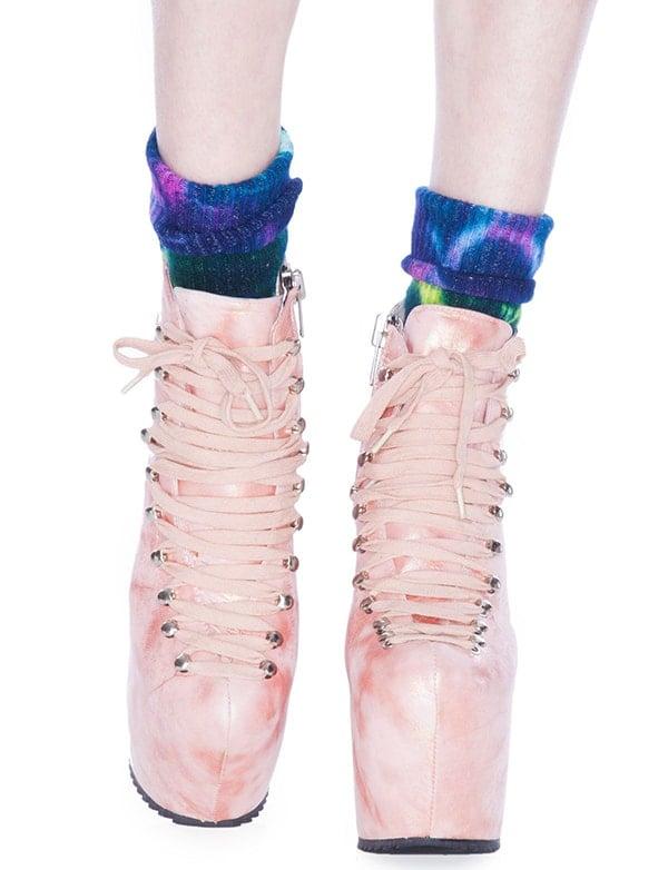 Unif The Hellbound Platform Shoes Mermaid Pink