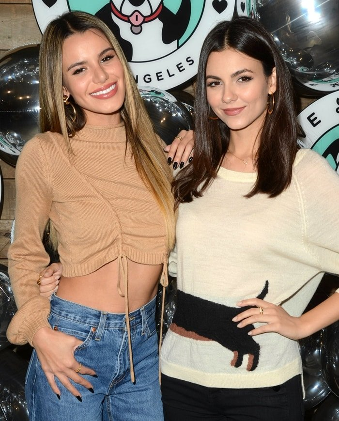 Victoria Justice and her younger half-sister Madison Grace attend the 2019 Love Leo Rescue's Cocktails for a Cause
